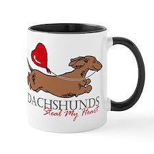 Mug w/ Longhair Piebald Dachshund