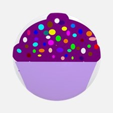 cupcake-purple-hi Ornament (Round)