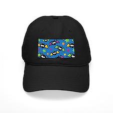 Blue Bat Pattern Baseball Hat