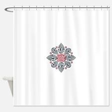 The Tudor Rose Pink Diamond Shower Curtain