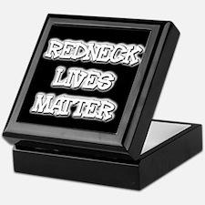Black and White Rednecks Lives Matter Keepsake Box