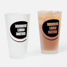 Black and White Rednecks Lives Matt Drinking Glass