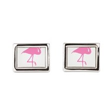 flamingo-hi Rectangular Cufflinks