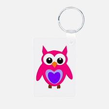 hot-pink-owl-hi Keychains