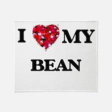 I Love MY Bean Throw Blanket