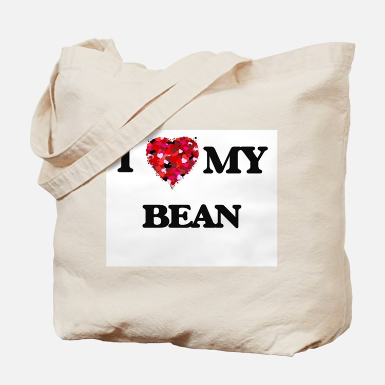 I Love MY Bean Tote Bag