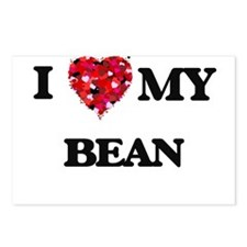 I Love MY Bean Postcards (Package of 8)