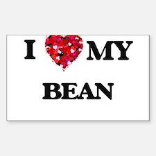 I Love MY Bean Decal