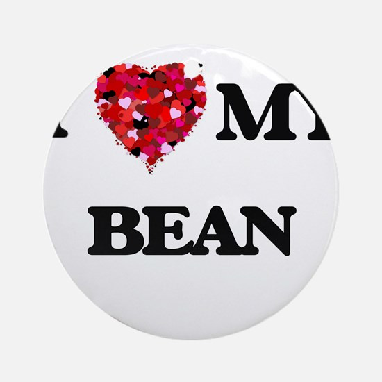 I Love MY Bean Ornament (Round)