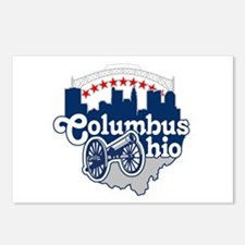 Columbus Ohio Skyline Cannon Postcards (Package of