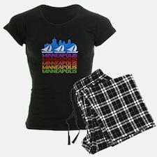 Minneapolis Skyline Rainbow Colors Pajamas