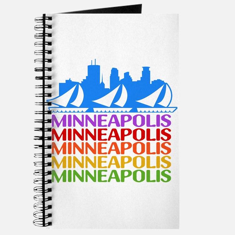 Minneapolis Skyline Rainbow Colors Journal