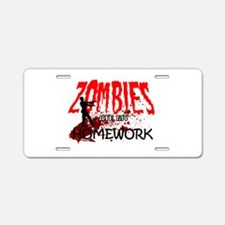 Zombie Merchandise Aluminum License Plate