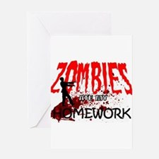 Zombie Merchandise Greeting Cards