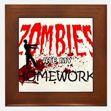 Zombie Merchandise Framed Tile