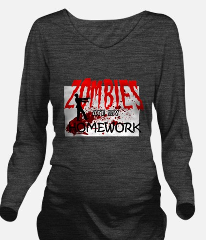 Zombie Merchandise Long Sleeve Maternity T-Shirt