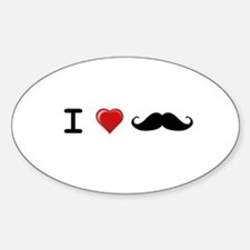 I love Mustaches Gifts Decal