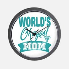 World's Okayest Mom Wall Clock