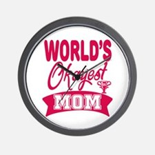 World's Okayest Mom Wall Clock