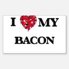 I Love MY Bacon Decal