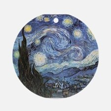 Starry Night Vincent Van Gogh Ornament (Round)