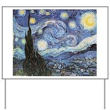 Starry Night Vincent Van Gogh Yard Sign