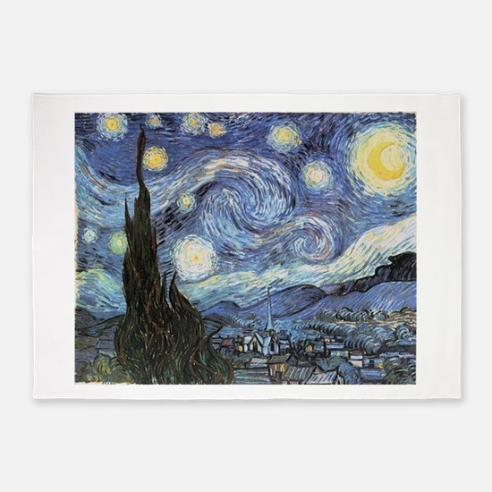 Starry Night Vincent Van Gogh 5'x7'Area Rug