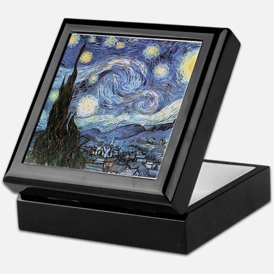 Starry Night Vincent Van Gogh Keepsake Box