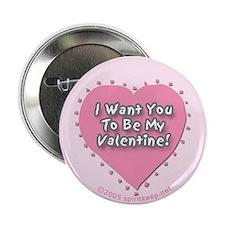 'Be My Valentine' Button