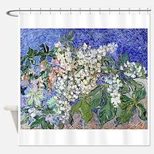 Van Gogh Blossoming Chestnut Branches Shower Curta