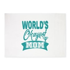 World's Okayest Mom 5'x7'Area Rug