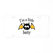 Little Batty Aluminum License Plate