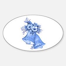 Blue Wedding Bells Decal