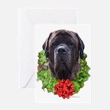Brindle Wreath2 Greeting Card