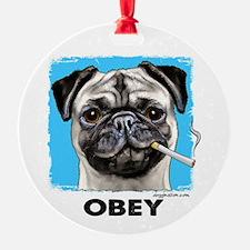 Obey Pug Ornament