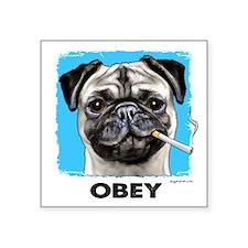 """Obey Pug Square Sticker 3"""" x 3"""""""