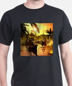 Ships in the sunset T-Shirt