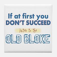 Old Bloke Tile Coaster