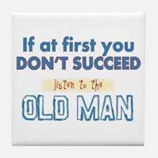 Old Man Tile Coaster