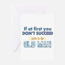 Old Man Greeting Cards