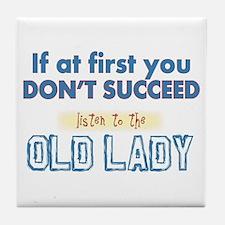 Old Lady Tile Coaster