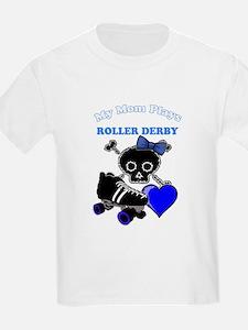 My Mom Plays Roller Derby (Girl) T-Shirt