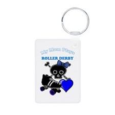 My Mom Plays Roller Derby (Girl) Keychains