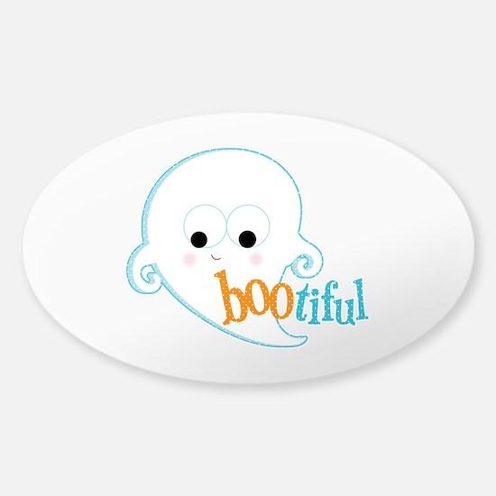Bootiful Ghost Sticker (Oval)