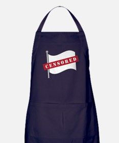 Censored Flag Apron (dark)