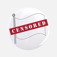 "Censored Flag 3.5"" Button (100 pack)"