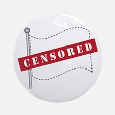 Censored Flag Ornament (Round)