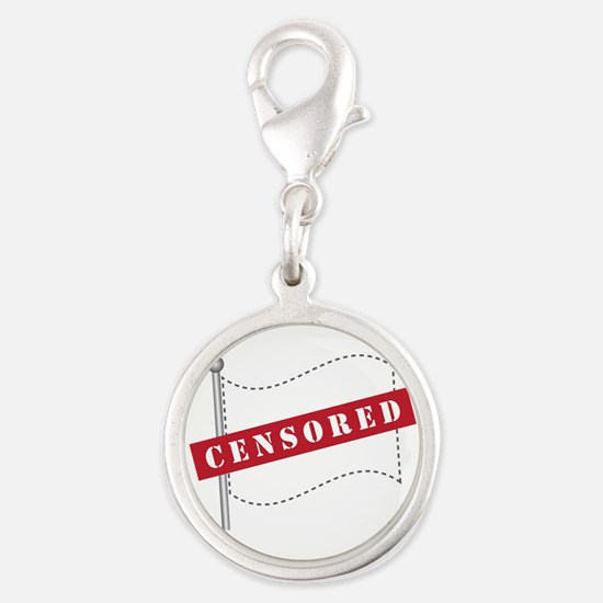 Censored Flag Silver Round Charm