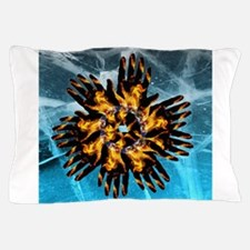 Fire & Ice Blazing Hand Starburst Pillow Case