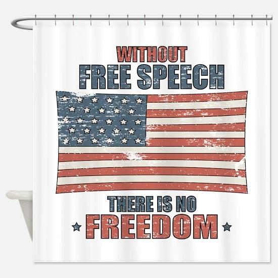 Free Speech Shower Curtain